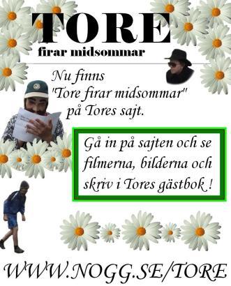 Tore firar midsommar-affisch